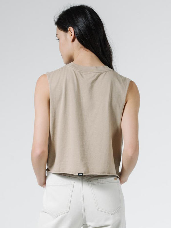 Storm The Castle Crop Muscle - Vintage Khaki