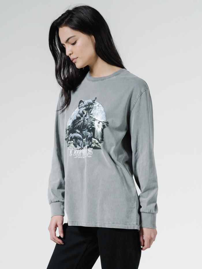 Blackmoon Merch Fit LS Tee - Washed Grey