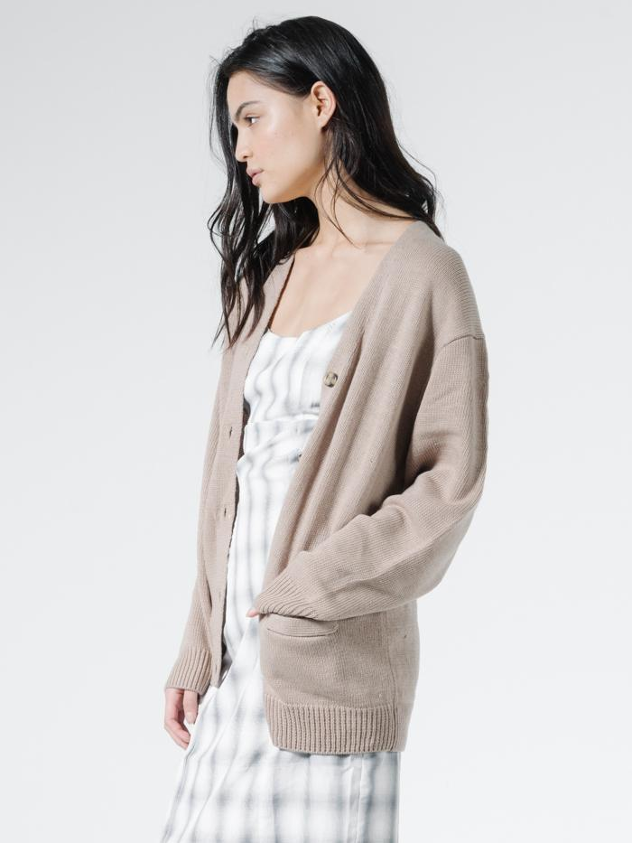 Courtney Cardigan - Vintage Khaki