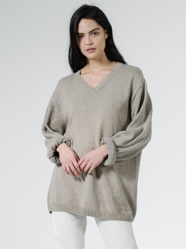 Mellow Slouch Knit - Oat Marle