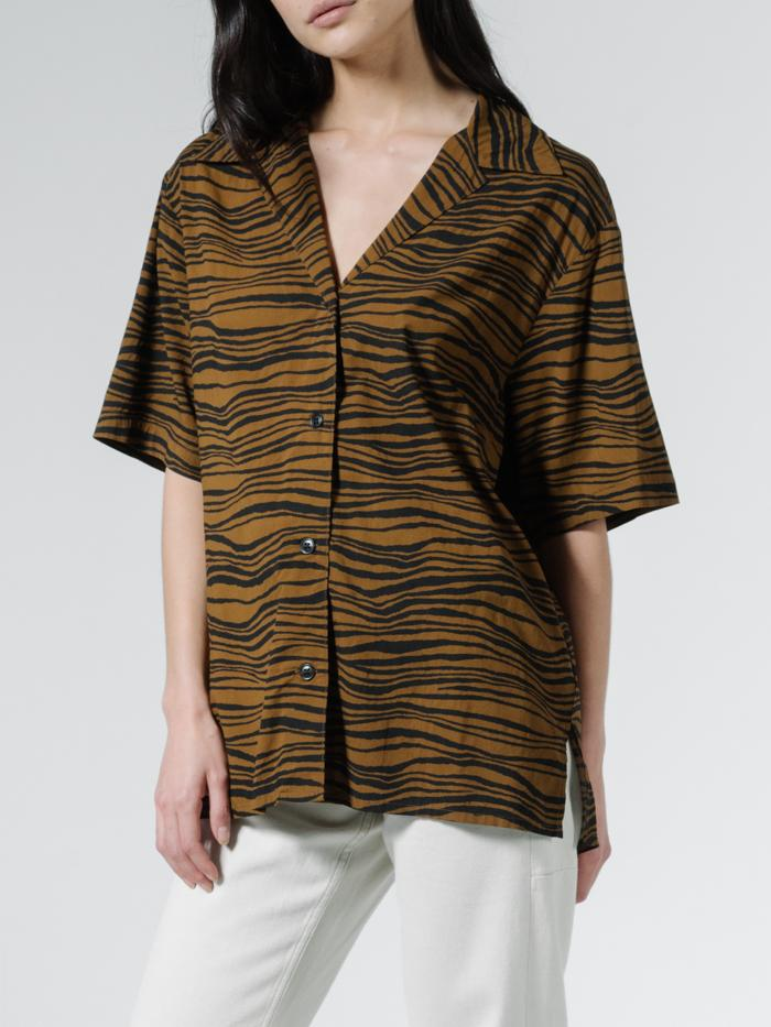 Disrupted Paradise Slouch Shirt - Palm Bronze