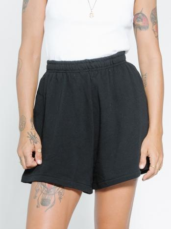 Established Fleece Short - Black