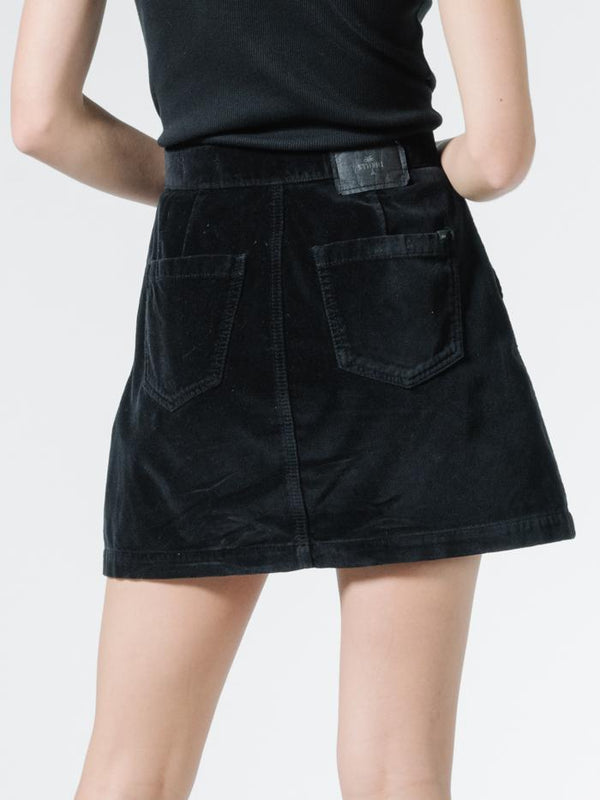 Tahli Velvet Skirt - Black