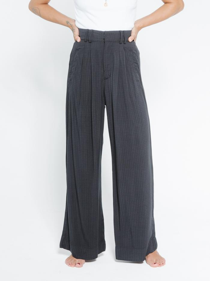 Windowpane Muse Pant - Washed Black