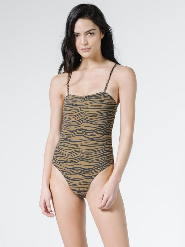 Disrupted Paradise One Piece - Palm Bronze