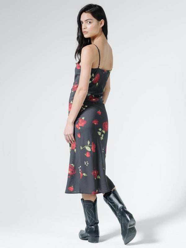 Enchanted Bias Dress - Black