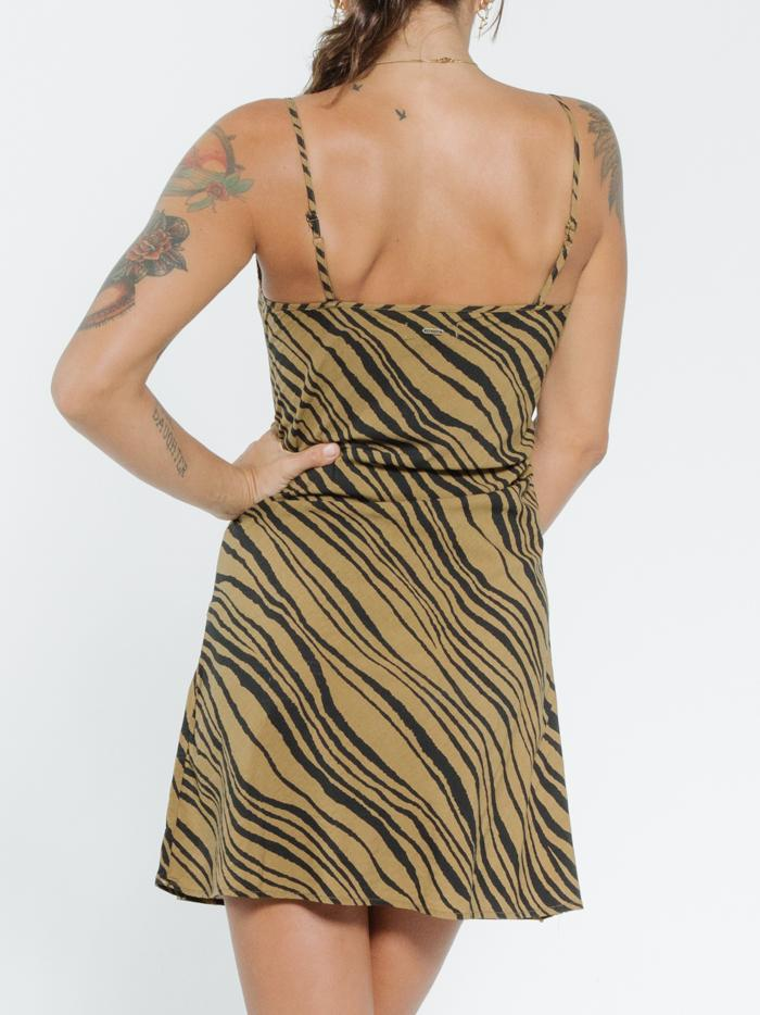 Disrupted Paradise Dress - Palm Bronze