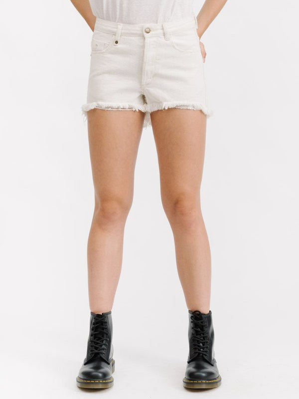 COBRA RAW HEM SHORT - BONE WHITE