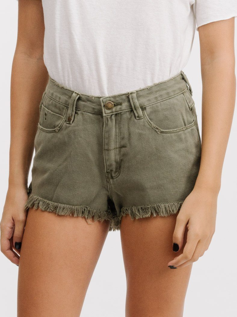 Cobra Short Raw Hem - Army Green