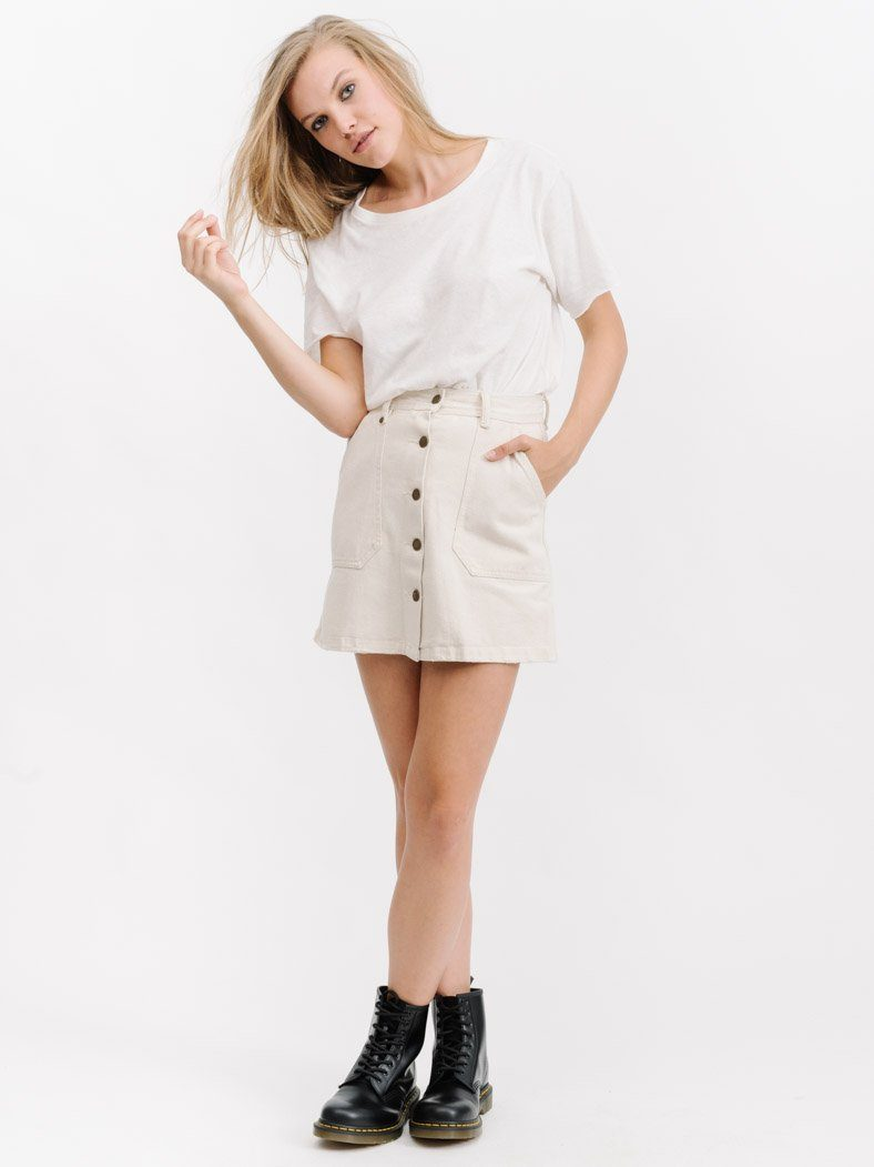 Smith Skirt - Bone White