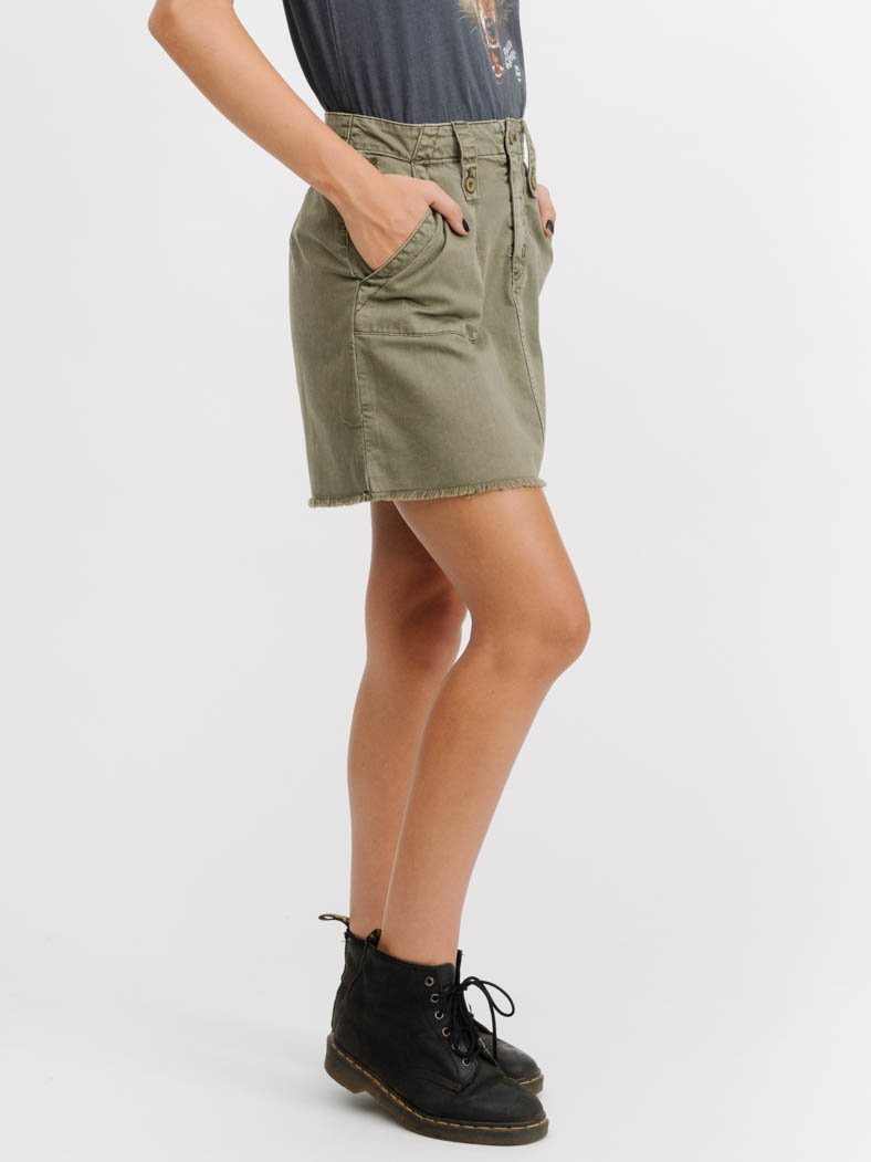 Military Skirt  - Army Green