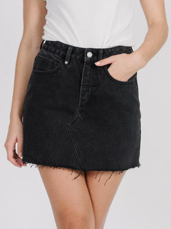 Leni Skirt - Faded Black
