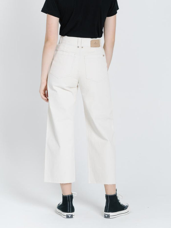 Belle Button Jean - Shady White