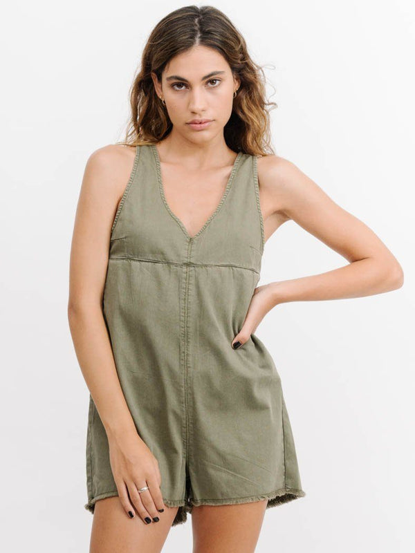 Coyote Short Overalls - Army Green