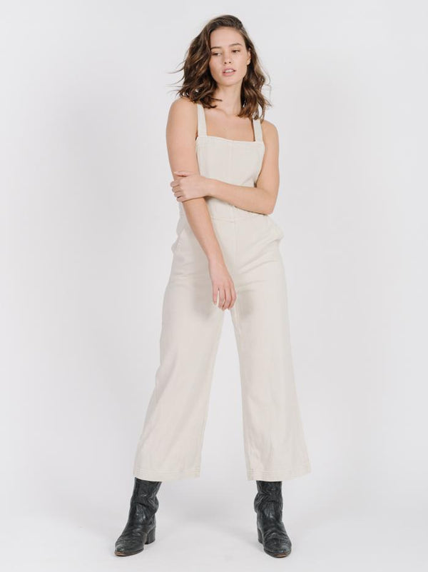 Market Denim Overall - Dirty White
