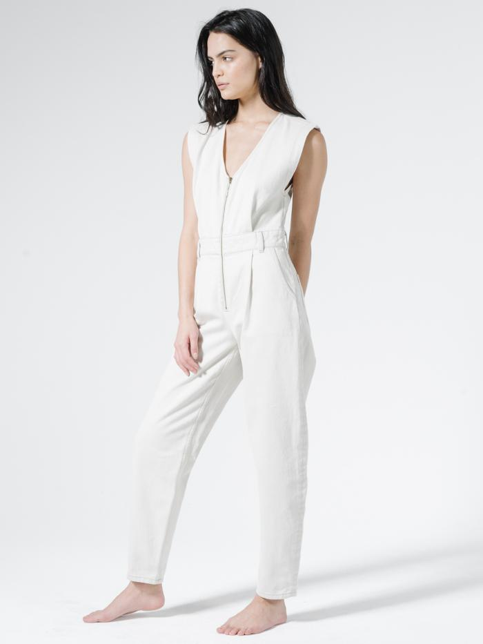 Crescent Sleeveless Coverall - Vintage Bone