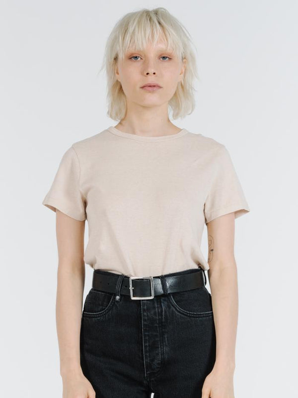 Hemp Slim Tee - Nude