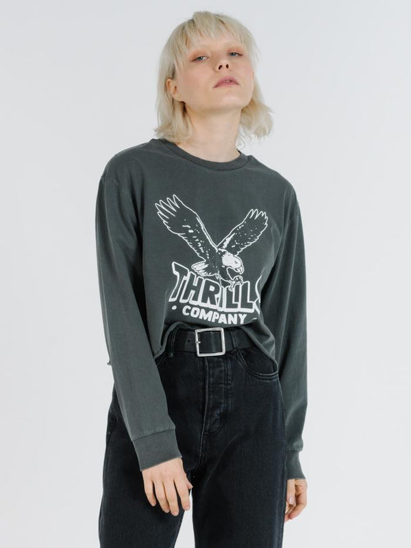 Talons LS Merch Crop Tee - Merch Black