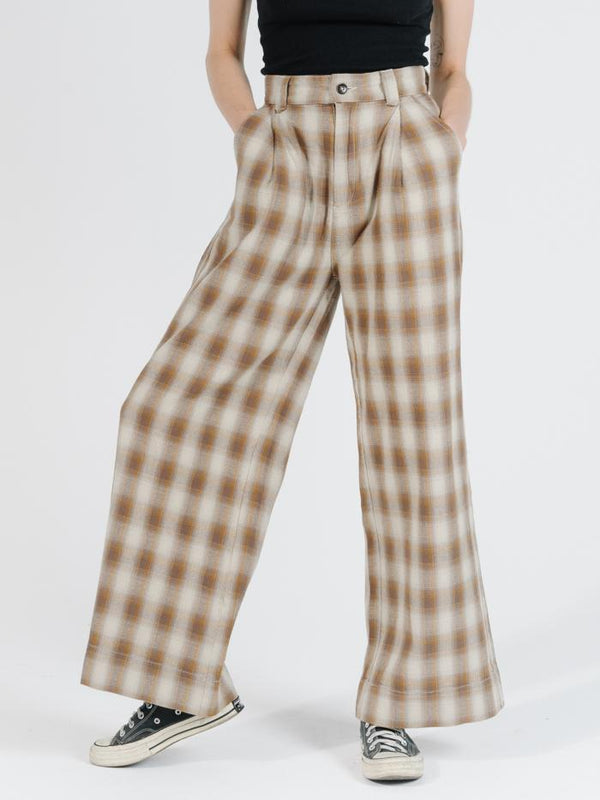 Artist Plaid Pant - Brown