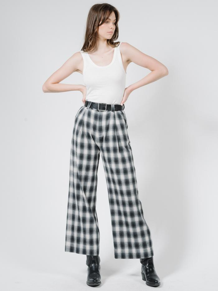 Artist Plaid Pant - Steel Grey