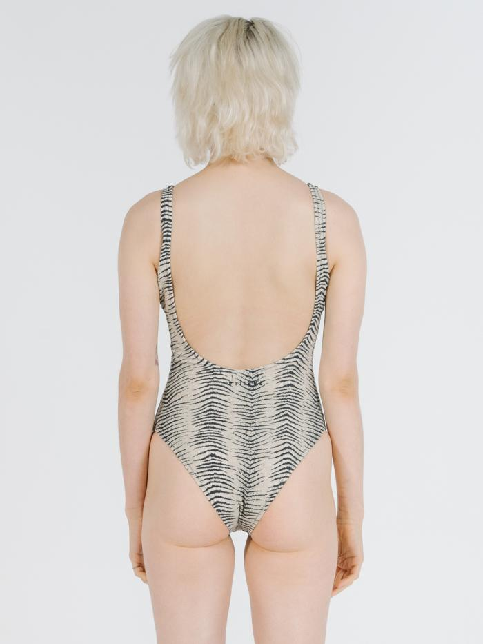 Zebra Lounge One Piece - Thrift White