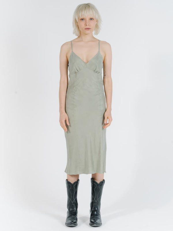 Estate Midi Slip Dress - Desert Sage