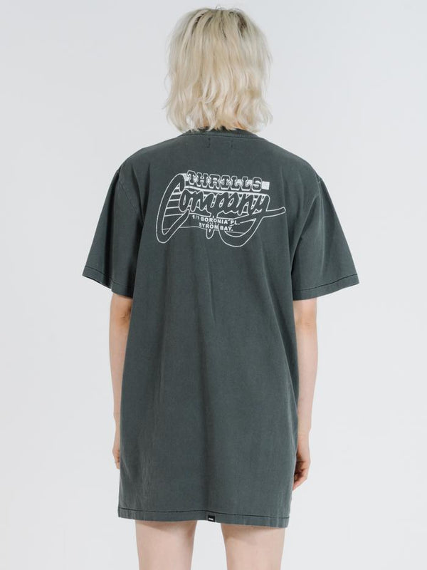 Prowler Merch Tee Dress - Merch Black