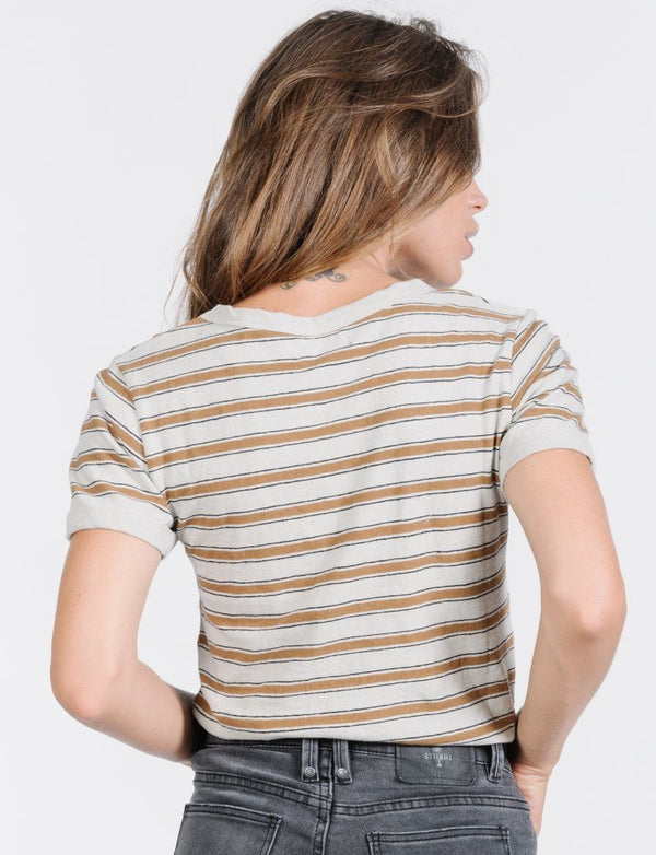 Commune Stripe Tee  - Cement