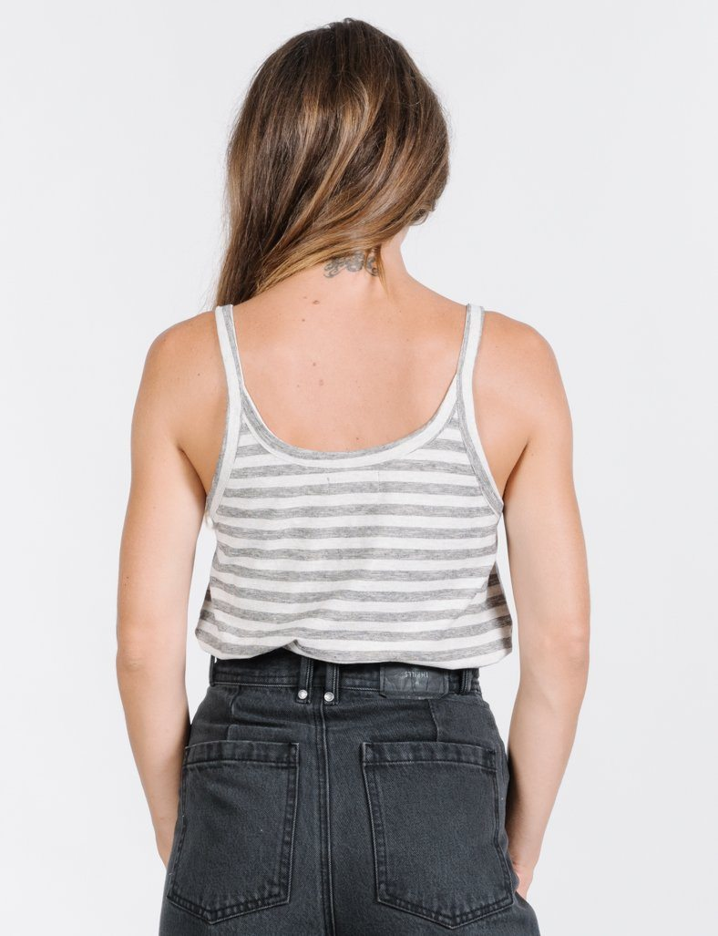 Cauzed Stripe Tank - Tan