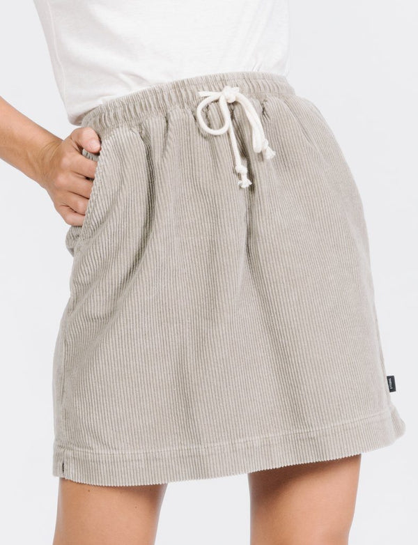 Friday Cord Skirt - Dusty Sage