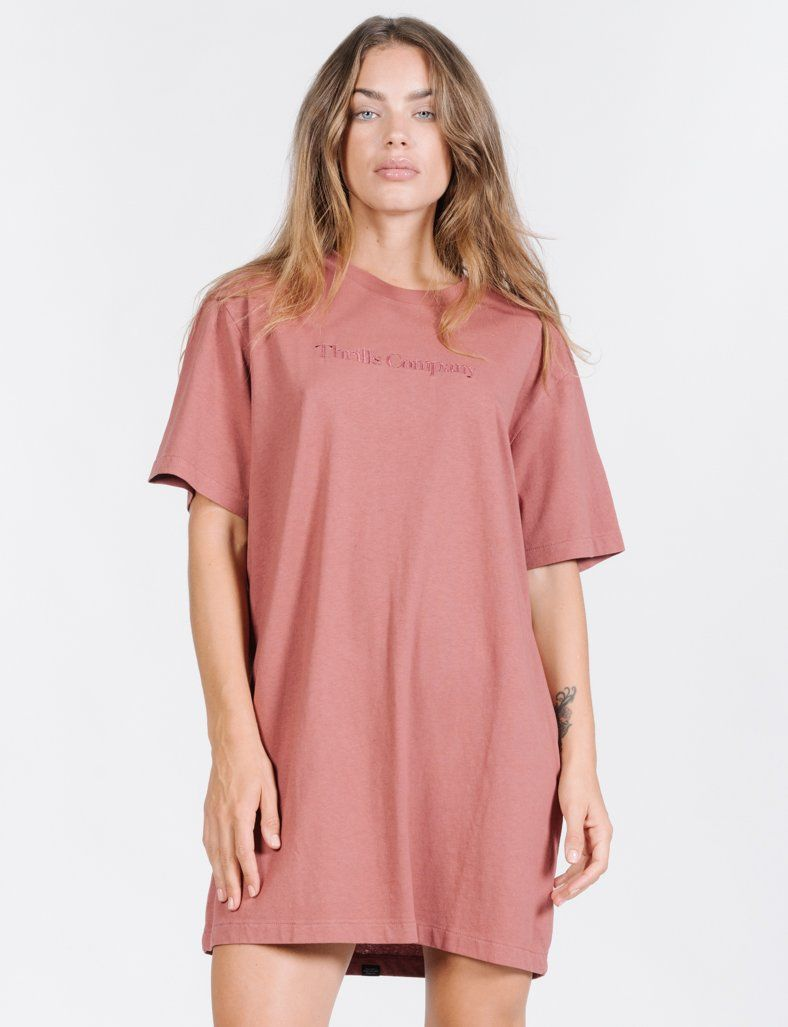 Tonal Service Merch Dress - Faded Red
