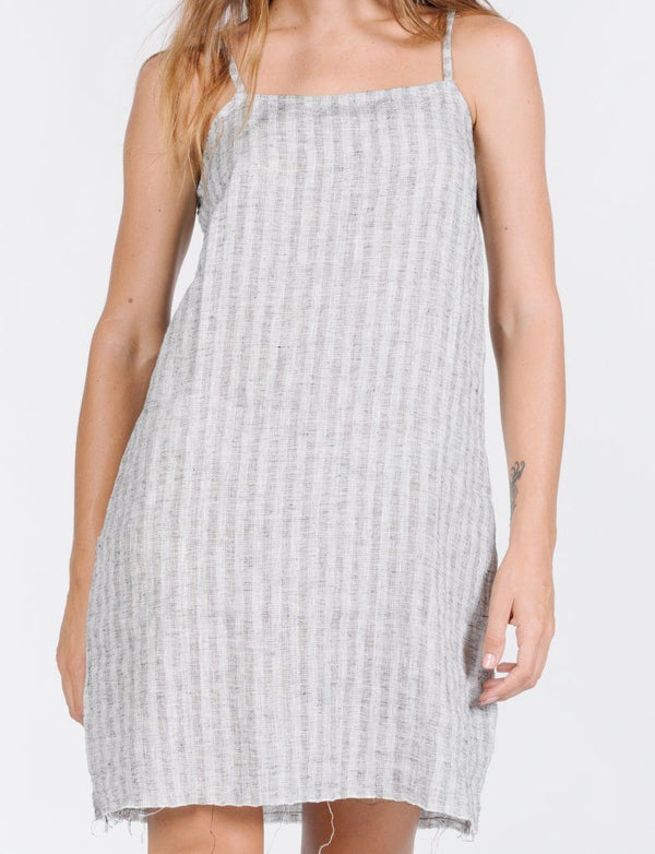 Cauzed Stripe Dress - Tan