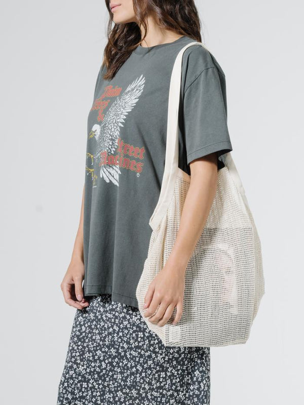 Mesh Slouch Bag - Unbleached