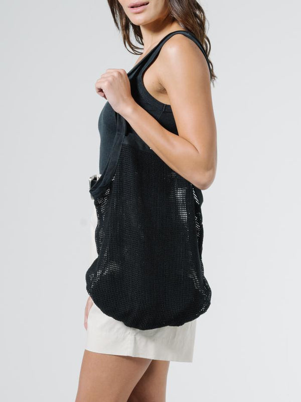 Mesh Slouch Bag - Black