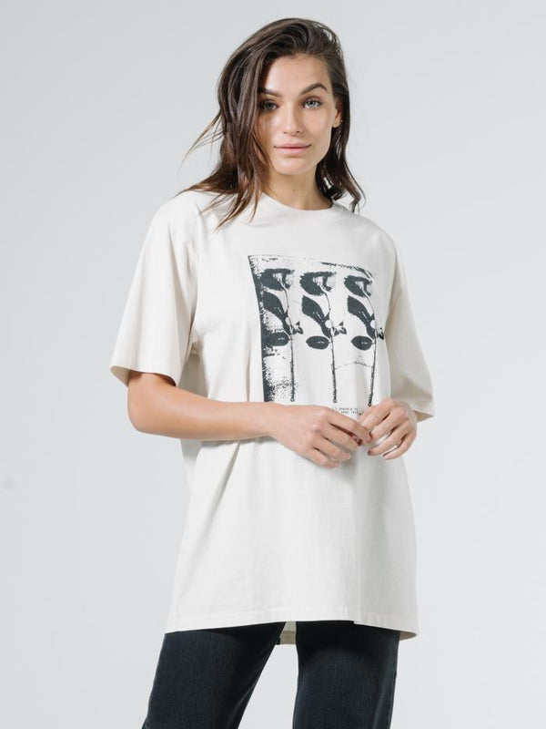 Three Roses Merch Tee - Heritage White