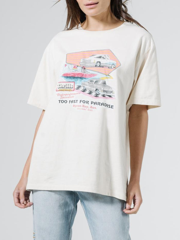 Speedsters Merch Tee - Dirty White