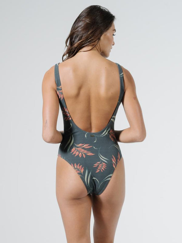 Tropical Solitude One Piece - Black