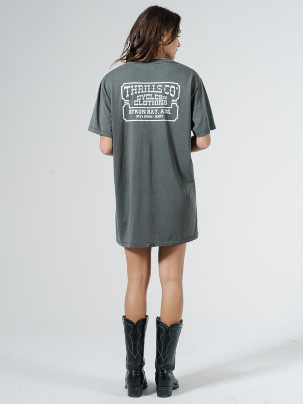 Happy Trails Merch Tee Dress - Merch Black