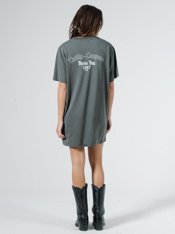Eighty Seven Merch Tee Dress - Merch Black
