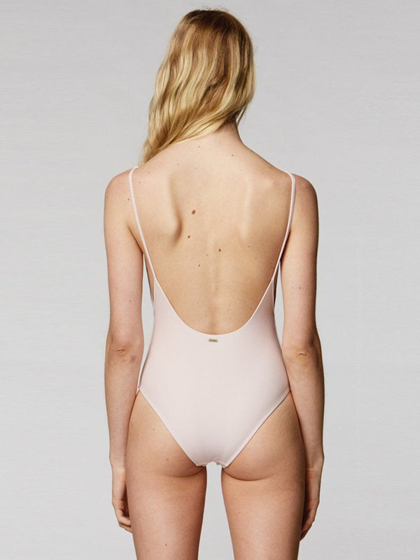 Thrills Palm Embro One Piece - Rose Smoke