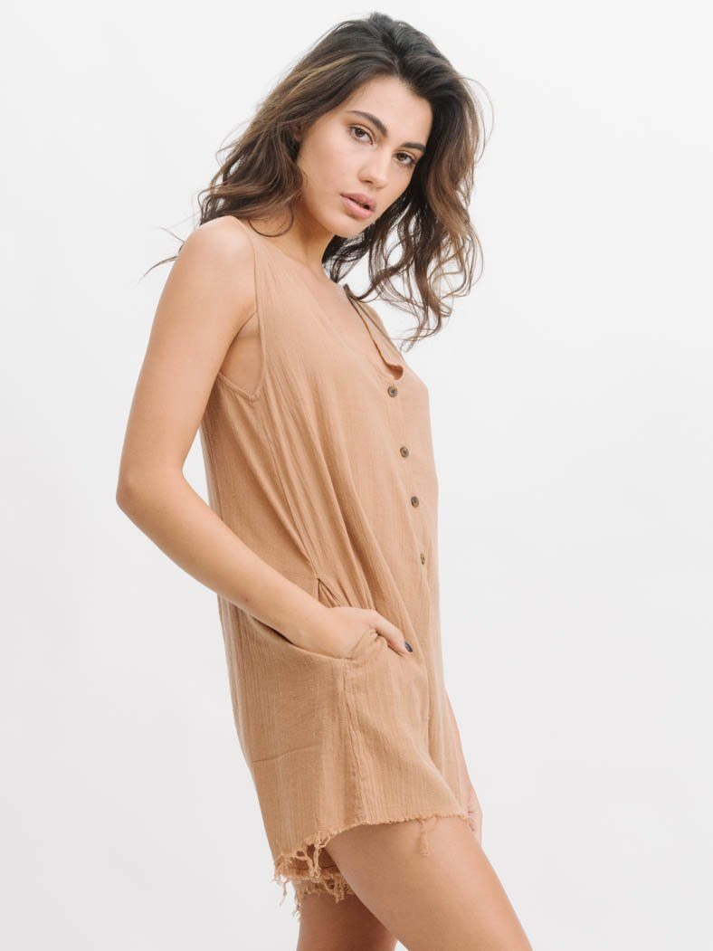 Chevelle Playsuit  - Tobacco