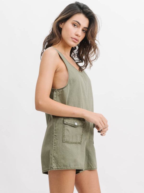 Surplus Romper - Army Green