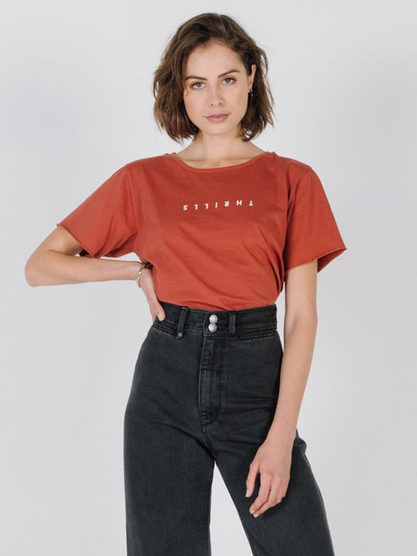 Minimal Thrills Loose Fit Tee - Rocker Red