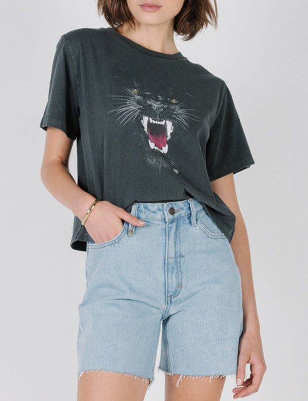 Jaguar Merch Crop Tee - Merch Black