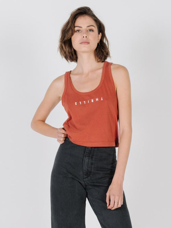 Minimal Thrills Scoop Tank - Rocker Red