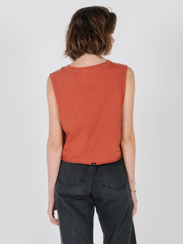 Minimal Thrills Crop Muscle - Rocker Red