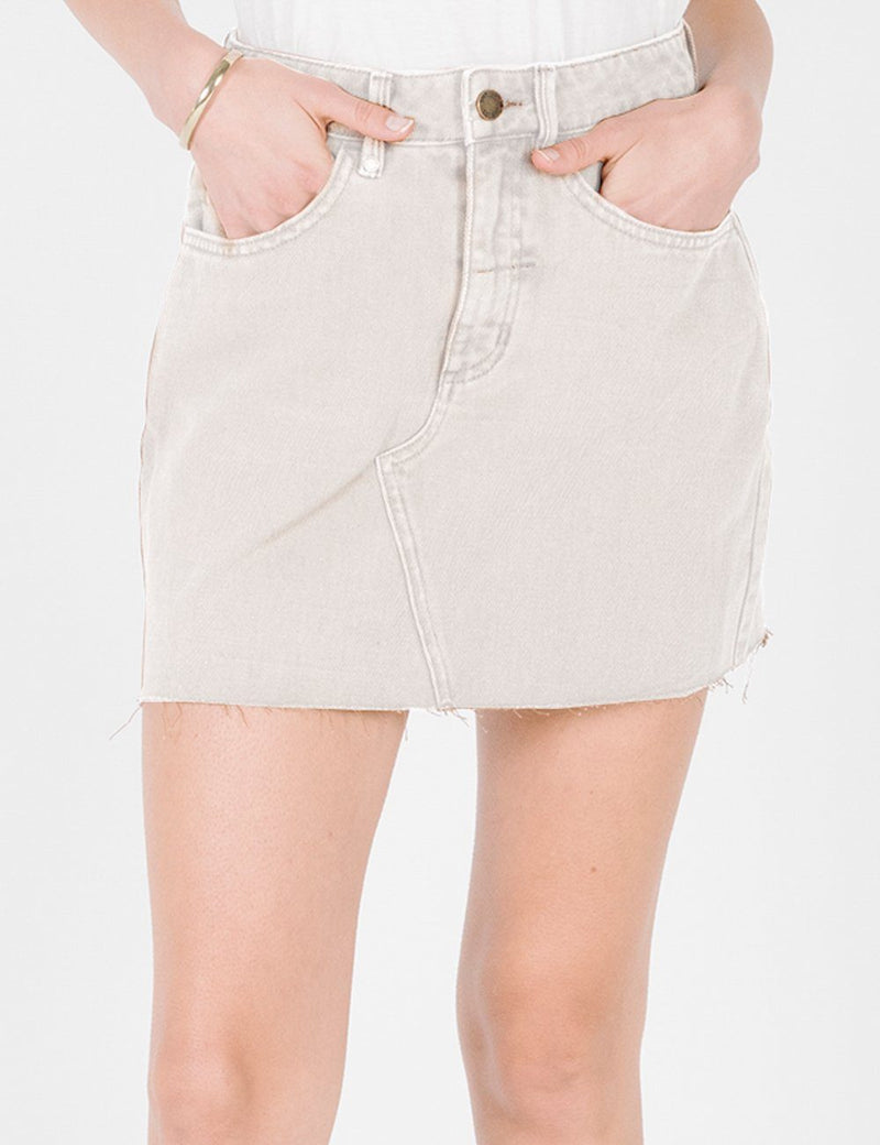 Leni Cord Skirt - Dirty White