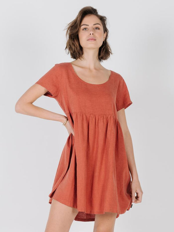 Delia Dress - Rocker Red