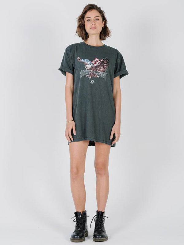 Thrills Union Merch Dress - Merch Black