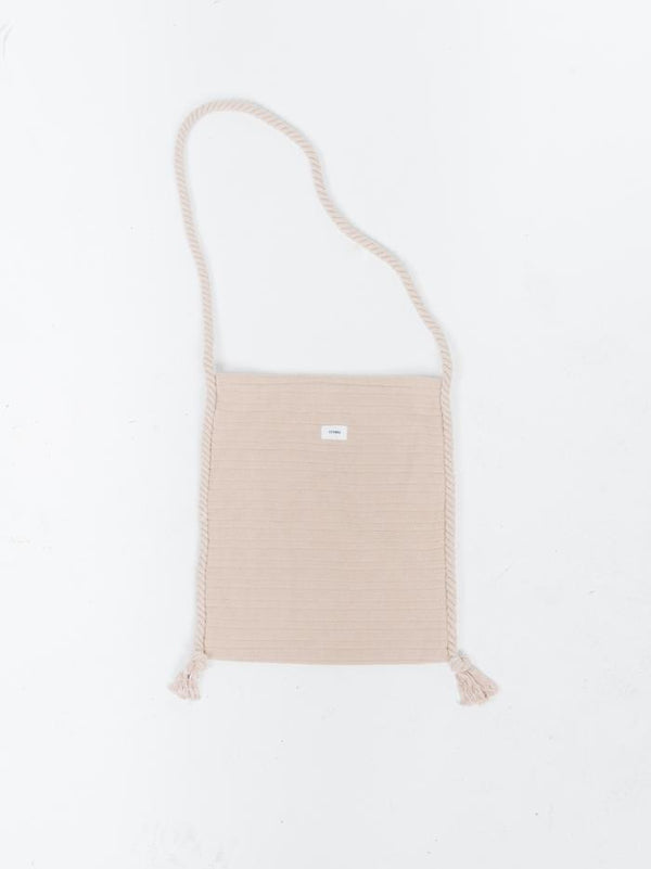 Terry Satchel Bag - Almond